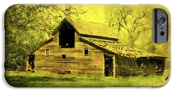 Shed Mixed Media iPhone Cases - Golden Barn iPhone Case by Julie Hamilton