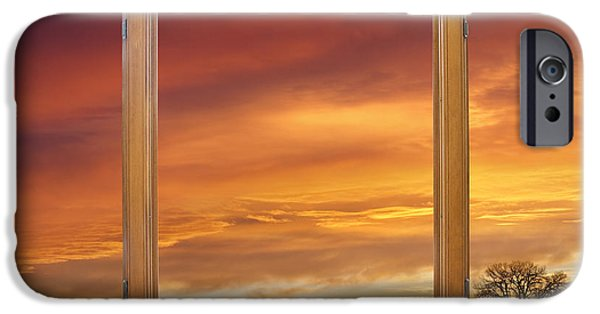 Epic iPhone Cases - Golden Country Sunrise Window View iPhone Case by James BO  Insogna