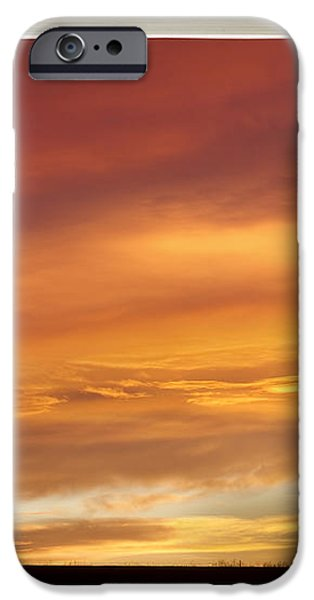 Golden Country Sunrise Window View iPhone Case by James BO  Insogna