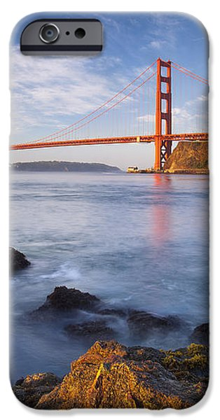 Golden Gate at dawn iPhone Case by Brian Jannsen
