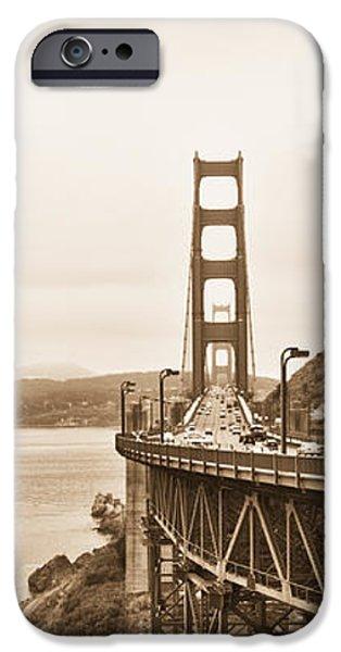 Golden Gate Bridge in Sepia iPhone Case by Betty LaRue