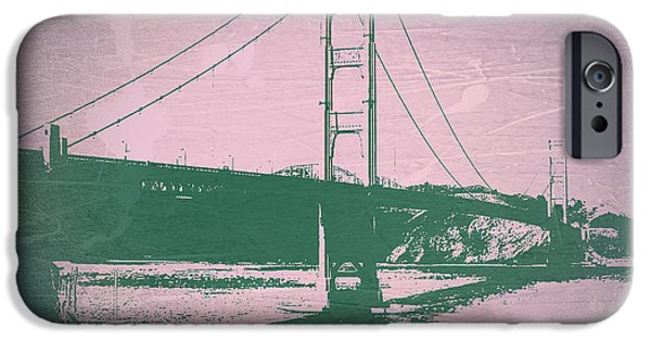 Golden Gate iPhone Cases - Golden gate Bridge iPhone Case by Naxart Studio