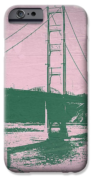 Golden gate Bridge iPhone Case by Naxart Studio