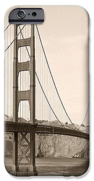 Golden Gate Bridge San Francisco - A thirty-five million dollar steel harp iPhone Case by Christine Till