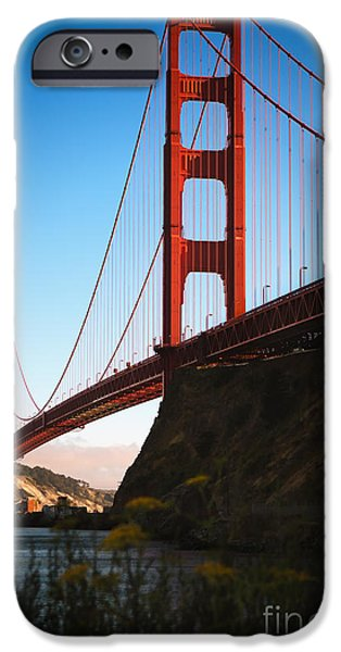 Sausalito iPhone Cases - Golden Gate Bridge Sausalito iPhone Case by Doug Sturgess