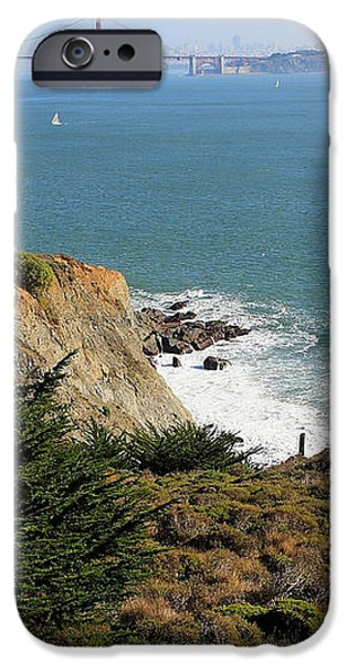 Golden Gate Bridge Viewed From The Marin Headlands iPhone Case by Wingsdomain Art and Photography
