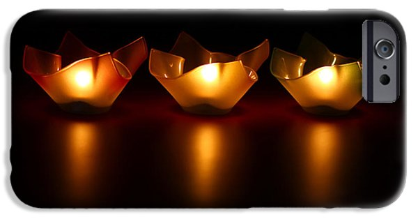 Blurred iPhone Cases - Golden Glow iPhone Case by Evelina Kremsdorf