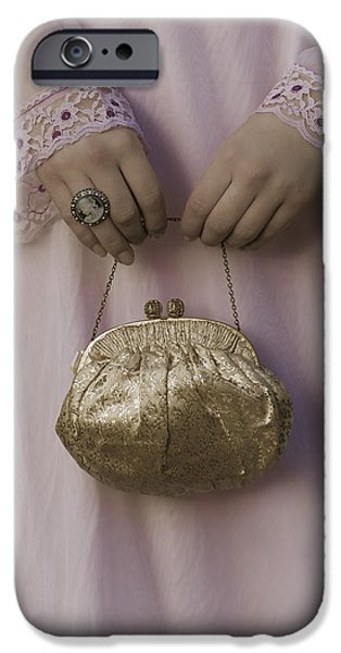 golden handbag iPhone Case by Joana Kruse