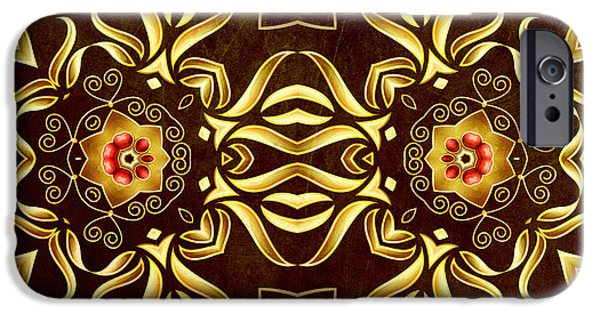 Daughter Gift iPhone Cases - Golden Infinity iPhone Case by Georgiana Romanovna