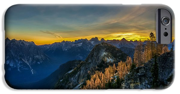 North Cascades iPhone Cases - Golden Larch iPhone Case by Ian Stotesbury