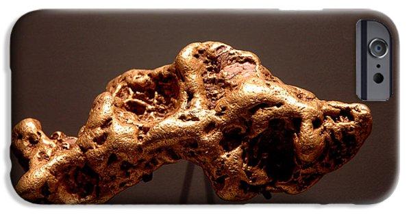 Smithsonian Museum iPhone Cases - Golden Nugget iPhone Case by LeeAnn McLaneGoetz McLaneGoetzStudioLLCcom