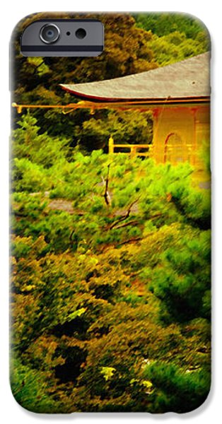 GOLDEN PAVILION temple in kyoto glowing in the garden iPhone Case by Andy Smy