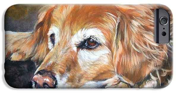 Pets iPhone Cases - Golden Retriever Senior iPhone Case by Lee Ann Shepard