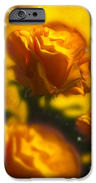 Golden Roses iPhone Case by Svetlana Sewell