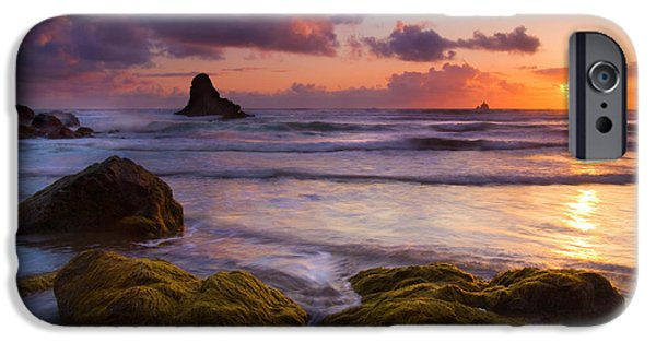 Seaweed iPhone Cases - Golden Tides iPhone Case by Mike  Dawson