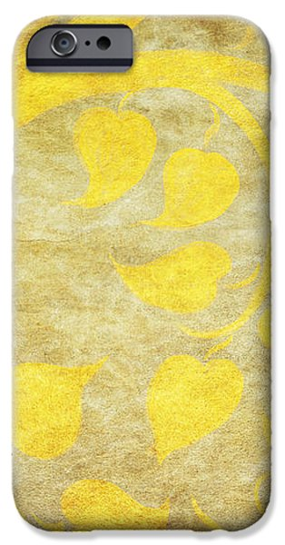 golden tree pattern on paper iPhone Case by Setsiri Silapasuwanchai