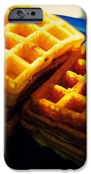 Golden Waffles iPhone Case by Rebecca Sherman