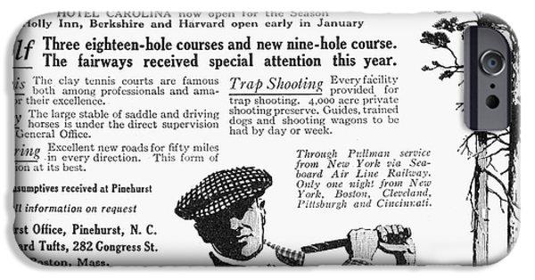 1916 Photographs iPhone Cases - Golf: Pinehurst, 1916 iPhone Case by Granger