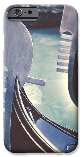Boats iPhone Cases - gondolas - Venice iPhone Case by Joana Kruse