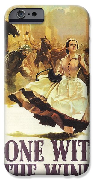 Big Screen iPhone Cases - Gone With The Wind iPhone Case by Nomad Art And  Design