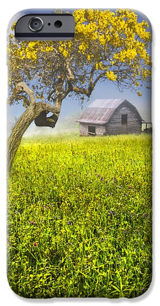 Smokey Mountains iPhone Cases - Good Morning Spring iPhone Case by Debra and Dave Vanderlaan