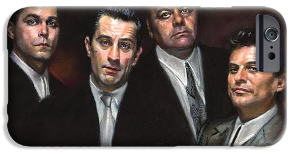 Robert De Niro Pastels iPhone Cases - Goodfellas iPhone Case by Ylli Haruni