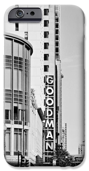 Goodman Theatre Center Chicago iPhone Case by Christine Till