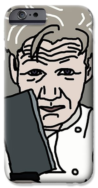 Michelin iPhone Cases - Gordon Ramsay iPhone Case by Jera Sky