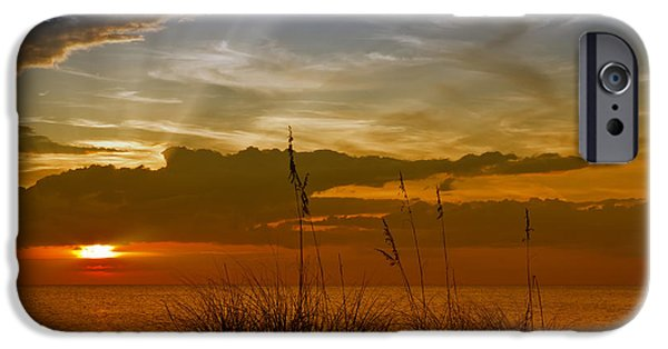 Evening Digital Art iPhone Cases - Gorgeous Sunset iPhone Case by Melanie Viola