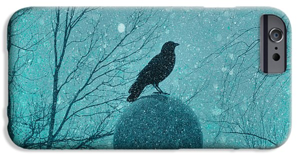 Winter Storm iPhone Cases - Goth Snow Globe iPhone Case by Gothicolors Donna Snyder