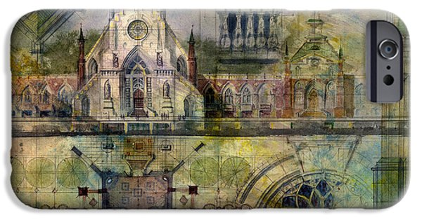 Ancient Paintings iPhone Cases - Gothic iPhone Case by Andrew King