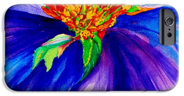 Abstracted Coneflowers Paintings iPhone Cases - Graceful Curves iPhone Case by Lil Taylor