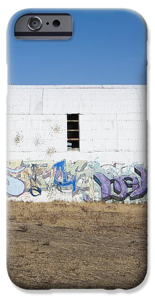 Graffiti on Abandoned Equipment Shed iPhone Case by Paul Edmondson