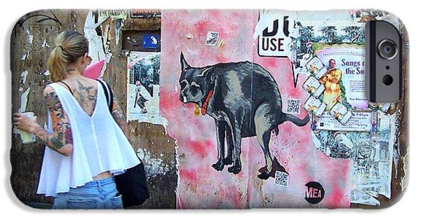 East Village Photographs iPhone Cases - Graffiti iPhone Case by Steven Huszar