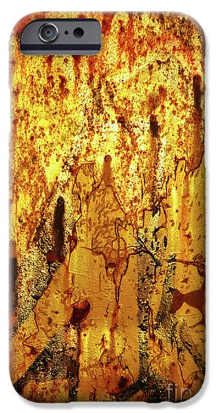 Vandalism iPhone Cases - Grafitti Detail iPhone Case by Carlos Caetano