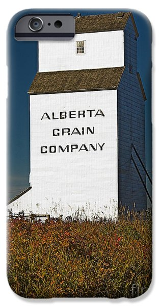 Historic Site iPhone Cases - Grain Elevator iPhone Case by Darcy Michaelchuk