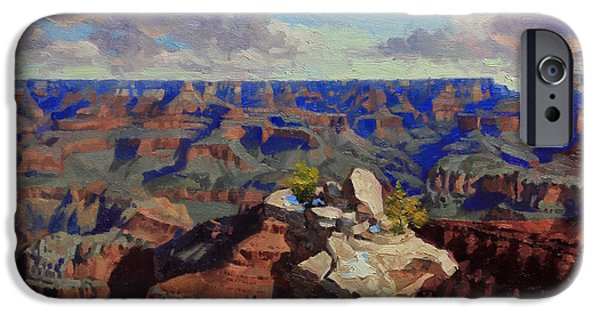 Grand Canyon iPhone Cases - Grand Canyon South Rim iPhone Case by Gary Kim