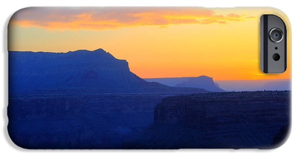 Grand Canyon iPhone Cases - Grand Canyon Sunrise At Toroweap iPhone Case by Bob Christopher