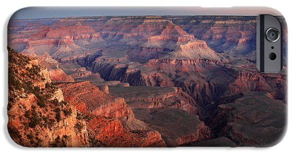Grand Canyon iPhone Cases - Grand Canyon Sunrise iPhone Case by Pierre Leclerc Photography