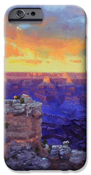 Grand Canyon Winter Sunset iPhone Case by Gary Kim