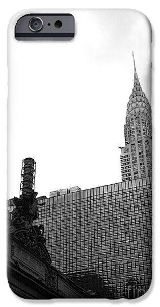 Grand Central-Grand Hyatt-Chrysler iPhone Case by David Bearden