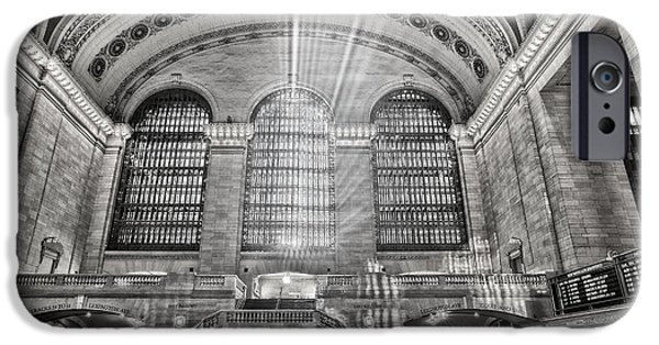 Railway Locomotive iPhone Cases - Grand Central Terminal Station iPhone Case by Susan Candelario