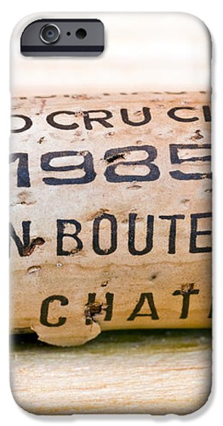 Grand Cru Classe Bordeaux Wine Cork iPhone Case by Frank Tschakert