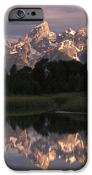 Grand Teton Range And Cloudy Sky iPhone Case by Tim Fitzharris