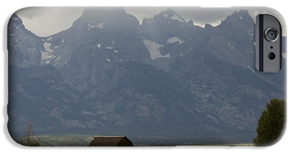 Recently Sold -  - Old Barns iPhone Cases - Grand Tetons Jackson Wyoming iPhone Case by Dustin K Ryan