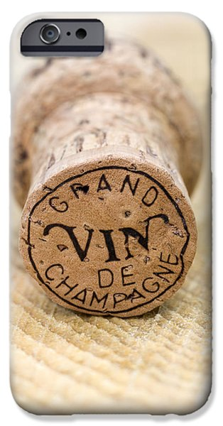 Vin iPhone Cases - Grand vin de Champagne iPhone Case by Frank Tschakert