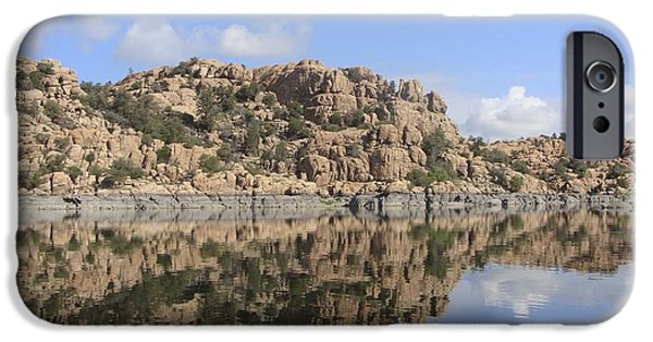 Watson Lake iPhone Cases - Granite Dells iPhone Case by Ramie Liddle