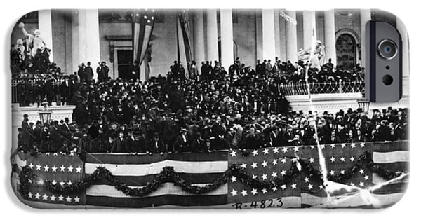 Inauguration iPhone Cases - Grant Inauguration, 1873 iPhone Case by Granger