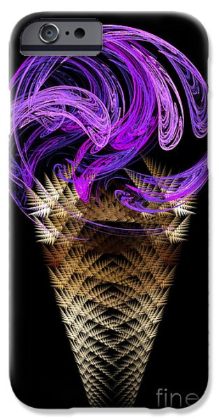 Grape Ice Cream Cone iPhone Case by Andee Design