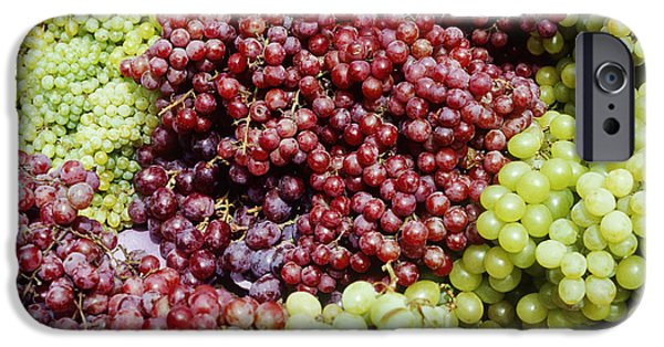 Concord Grapes iPhone Cases - Grapes at a Market Stall iPhone Case by Jeremy Woodhouse